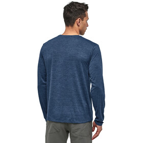 Patagonia Cap Cool Daily Graphic Long Sleeve Shirt Herre line logo ridge/stone blue x-dye